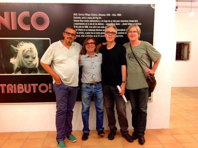 RAFA CERVERA, MIQUEL COSTA, JAMES YOUNG AND LUTZ ULBRICH AT THE NICO TRIBUTE EVENT IN SANT ANTONI, PHOTO HELEN DONLON.jpg